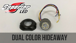Superior Led Dual Color Dual Mode Red Blue Hideaway W Surface Mount Bezel