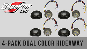 Superior Led Dual Color Dual Mode 4 Pack Green Amber Hideaway W Surface Bezel