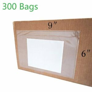 300 Clear Envelope Pouches 6x9 Slip Plastic Shipping Packing List Self Adhesive