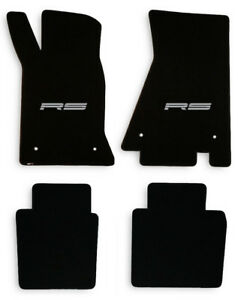 New 1982 1992 Camaro Floor Mats Black Set Of 4 Carpet Embroidered Rs On Fronts