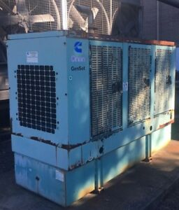 Solid Dependable 100kw Cummins Enclosed Generator And Tank