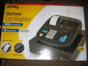 Royal 500dx Electronic Cash Register No Key Org Box Paper Work