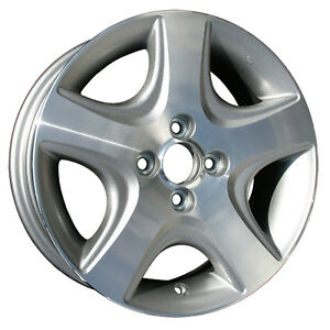 63868 New Compatible 15in Wheel Rim Fits 2004 2005 Honda Civic Machined And Gray