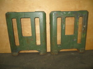 Vintage Pair Of Art Deco Cast Iron Machine Stand Legs
