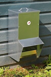 Chicken Feeder Rainproof Outdoor Wall Mount Stand Poultry Farm 25 Lbs Capacity