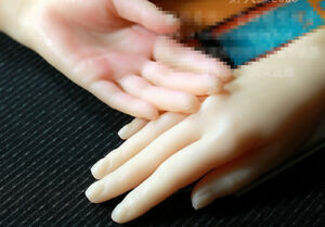New Lifesize Realistic Silicone Hands Mannequin Fetish 1 Pair Jewelry Display 34