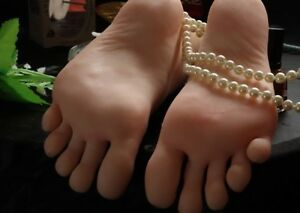 New Lifesize Realistic Silicone Foot Mannequin Fetish 1 Pair Jewelry Display 36
