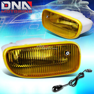 For 99 04 Jeep Grand Cherokee Wj Yellow Tinted Oe Bumper Fog Light Lamp switch