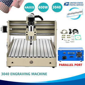 3040 Cnc Routers Engraver 4 Axis Engraving Milling Carving Machine Ac110v 400w