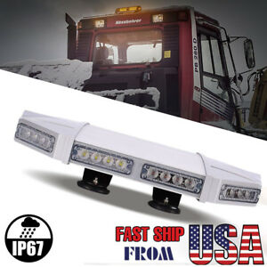 56 Led 18 Light Bar Warn Emergency Beacon Tow Truck Strobe Response Amber white