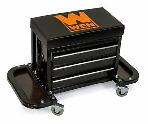 Rolling Tool Chest Seat Mechanic Shop Stool Chair Tool Caddy Drawers Magnetic