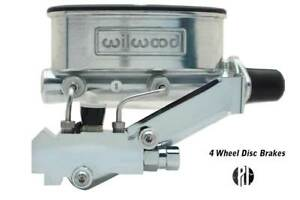 Chrome Wilwood Master Cylinder Kit 1 125 Bore Proportioning Valve Disc disc