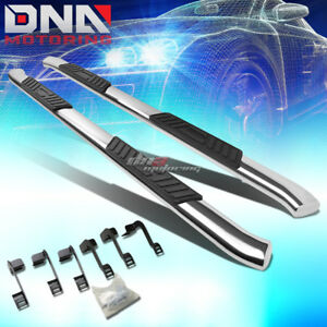 For 09 16 Dodge Ram Truck Crew Stainless 5 chrome Curved Oval Step Nerf Bar Kit