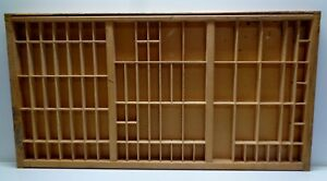 Vintage Printers Type Cabinet Drawer Tray Wood Miniatures Thimble Shelf Display