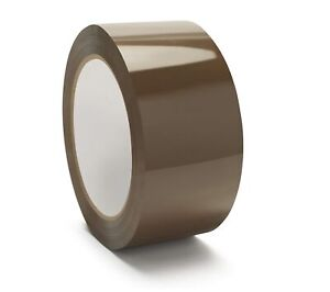 Tan brown Carton Sealing Hotmelt Packing Tape 2 X 55 Yards 1 6 Mil 216 Rolls