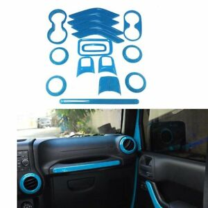 Light Blue Interior Accessories Trim For Jeep Wrangler Cab 4 Door 2011 2017 ya