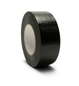 2 X 60 Yards 7 Mil Utility Grade Black Waterproof Duct Tape 216 Rolls