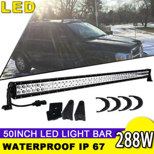 50inch 288w Led Work Light Bar Combo Offroad 4wd Suv Fit Jeep Rzr Ford 48 52