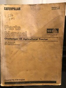 Caterpillar Challenger 55 Agricultural Tractor Parts Manual 7dm1 849 Sebp2477 02
