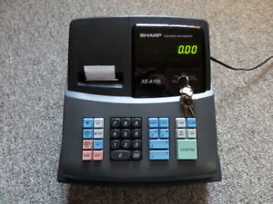 Sharp Electronic Cash Register Xe a106 No Drawer Key for Parts Or Repair