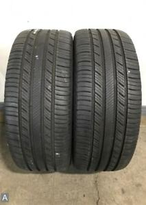 2x P225 45r17 Michelin Premier As 7 32nds Used Tires