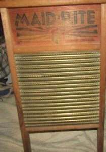 Vintage Washboard Maid Rite Columbus Washboard Co Columbus Ohio Usa 24 X 12