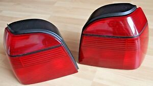 Vw Golf Mk3 Oem Hella Rear Euro Tail Lights Full Set All Red Tinted Rear Gti G60