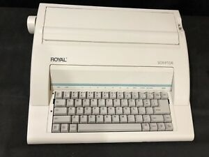 Royal Scriptor Electronic Portable Typewriter Real Nice