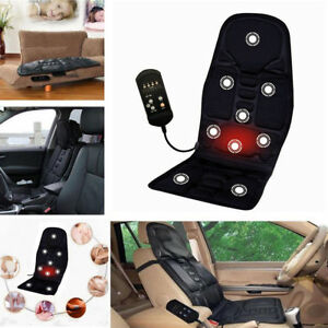 8 Mode Massage Heated Cushion Back Neck Relax Car Office Seat Cover Mat Us S2p0k