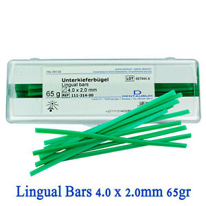 Dental Dentaurum Lingulal Bars Wax Green Model Casting Stick Rod 4 0x2 0mm 65gr