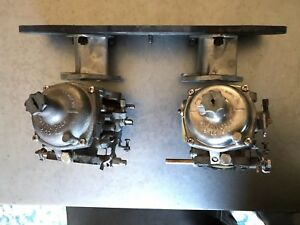 Jaguar Xke E Type Dual Zenith Stromberg 175 Cd 2 Carburators And Intake Trumpets