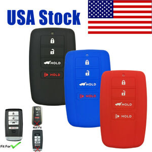 4btn Silicone Key Fob Cover Protector Remote Case For Acura Rlx Rdx Mdx Ilx Tlx