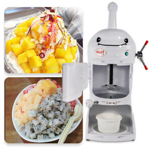 Electric Ice Shaver Machine Snow Cone Maker Automatic Crusher 110v Commercial