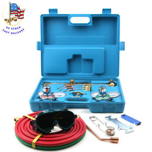 Oxygen Acetylene Welding Gas Cutting Kit Type Torch Brazing Soldering Oxy Kit