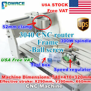 usa 3040 Ball Screw Cnc Wood Router Engraving Machine Kit 52mm 300w Dc Spindle