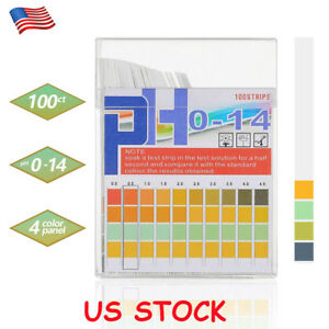 100pcs Ph Test Strips 0 14 Paper Tester Urine Saliva Water Indicator Litmus Usa