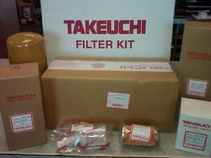 Takeuchi Tl150 Annual Filter Kit 1909915011 oem Ser 21500298 21500627