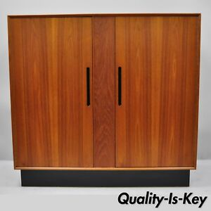 Westnofa Norway Teak Danish Modern Cabinet Gents Tall Chest Dresser Wardrobe
