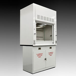 Chemical 4 Fume Hood With Flammable Base Storage Cabinets Quick Ship