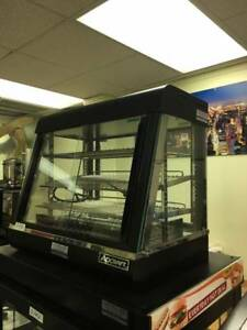 Table Top Heated Display Case W 2 Shelves 26
