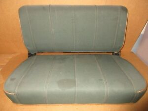 Oem Jeep Wrangler Yj Flip Fold Rear Seat 1987 1995 Green Tan Cloth Sahara 95g