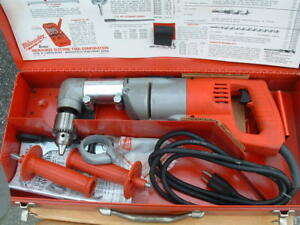 Brand New Hd Milwaukee 1 2 Right Angle Drill With Steel Case Included