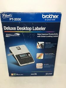Brother P touch Deluxe Desktop Labeler Pt 2030 Box W starter Tape