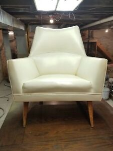 Rare Paul Mccobb Squirm Lounge Chair Mid Century Modern Vinyl Upholstery