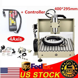 800w 4 Axis Cnc 3040t Router Engraver Engraving Machine Wood Carving 3d Cutter