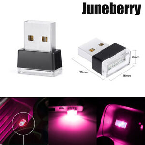 Wireless Usb Flexible Neon Ambient Led Light For Car Interior Decoration 1x Pink