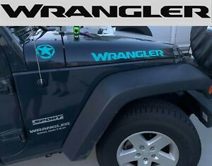 New Jeep Wrangler Hood Decals Stickers Graphics Rubicon 2 X23