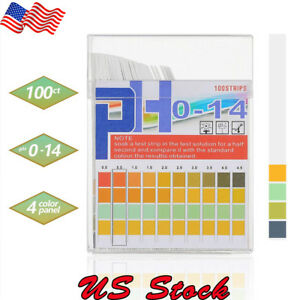 100pcs Ph Indicator Test Strips 0 14 Test Paper Water Litmus Tester Urine Saliva