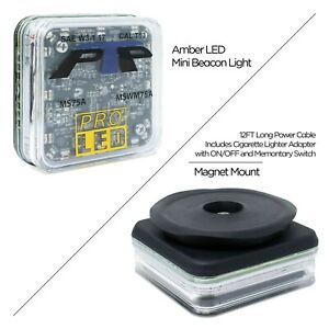 4 Square Magnet Mounted Led Warning Light With 10 Selectable Flash Patterns