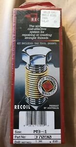New Recoil Helicoil Thread Repair Kit 37090 M9 1 10pcs